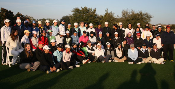 Players Pause for a Picture with Annika at Reunion Resort