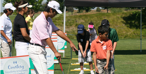 AJGA and The First Tee of San Joaquin Teach Young Golfers