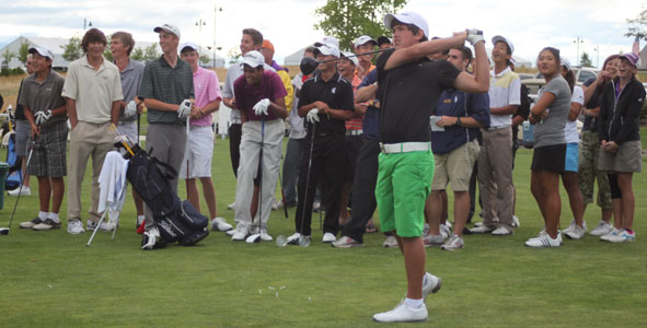 Juniors muscle up for long-drive contest