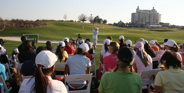 Annika hosts ANNIKA Clinic sponsored by Rolex