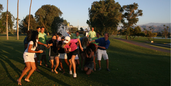 Tournament cookout water balloon fight!