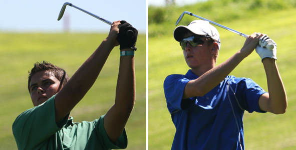 Green, Reinertson share first round lead at Quarry Oaks