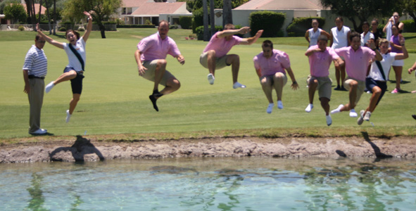 AJGA staff and juniors jump in!