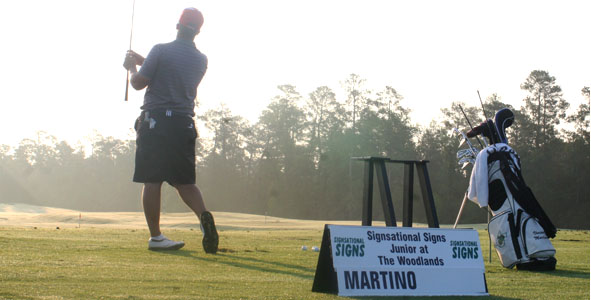 Martino prepares for final round as leader at The Woodlands