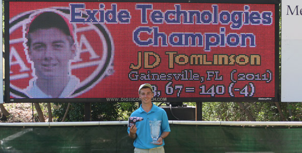 Tomlinson takes top honors