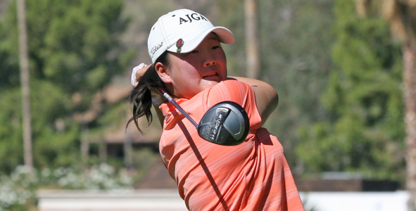 Twelve-year-old shares first-round lead