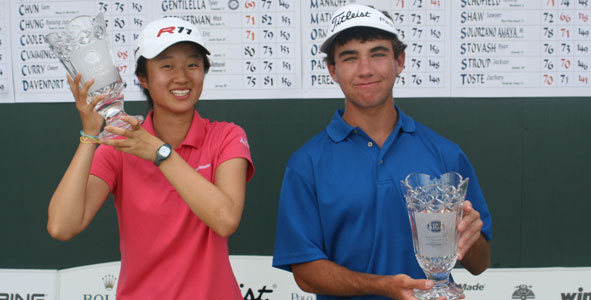 Liu and Shaw Capture Titles at PGA Golf Club