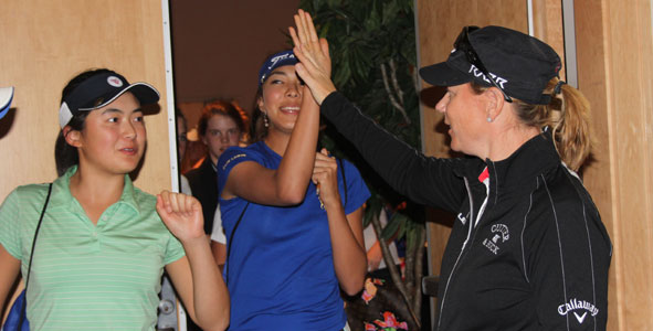 High fives from Annika