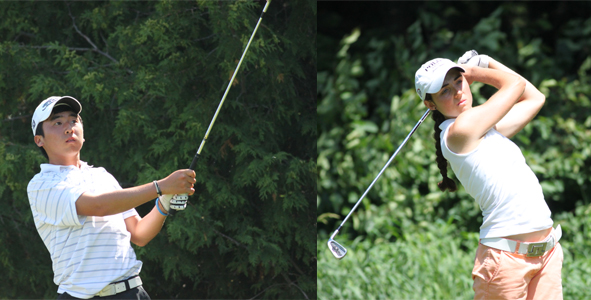 Ghim and Armstrong lead after round two