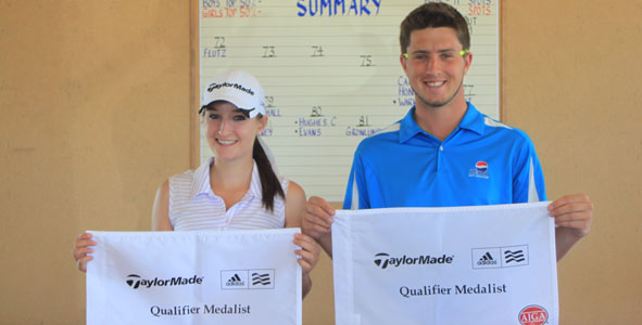 Feutz and Covey medal at TaylorMade-adidas Golf Qualifier