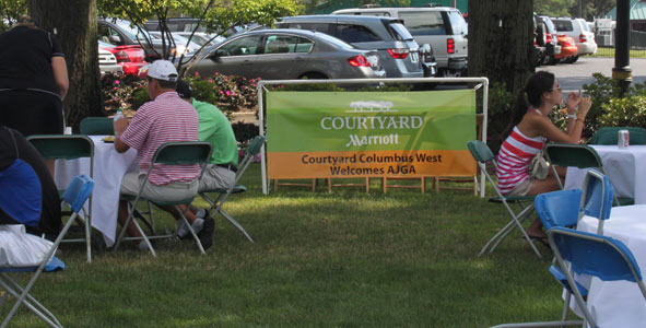 Field enjoys cookout sponsored by Courtyard Columbus West