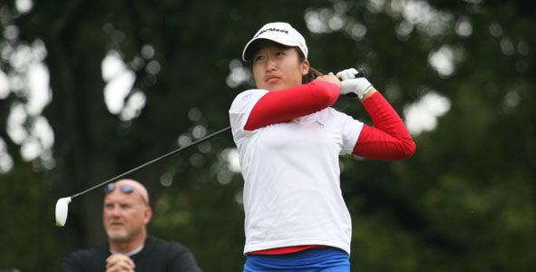 Kim takes second-round lead in Girls Division